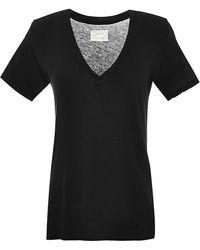 Current/Elliott The Vneck Cotton Tshirt - Lyst