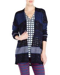 Alysi Mixed Knit Striped Cardigan - Lyst