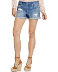 Two By Vince Camuto - Distressed Roll Cuff Denim Shorts - Lyst