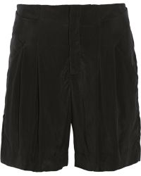 Theyskens' Theory Pioto Pleated Washedsateen Shorts - Lyst