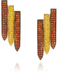 Ralph Masri - Sacred Windows Orange Yellow Earrings - Lyst