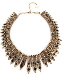 House of Harlow 1960 - Gypsy Feather Necklace Goldblack - Lyst