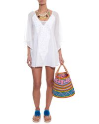 ViX Sami Embroidered Cotton Cover-Up - Lyst
