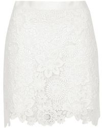 Topshop 3D Lace Mini Skirt - Lyst