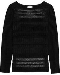 Reiss Mulan Wool Sheer Detailtop - Lyst