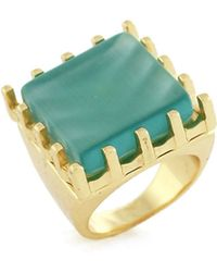 BCBGeneration - Snakes On A Chain Square Stone Ring - Lyst