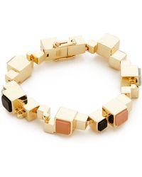 Eddie Borgo Cube Composition Bracelet - Rose Quartz/Light Amazonite - Lyst