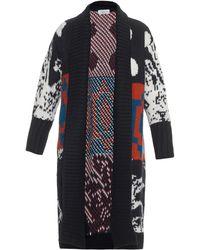 Tak.ori - Intarsia-knit Long Cardigan - Lyst