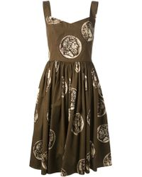 Dolce & Gabbana Cameo Coin Print Dress - Lyst