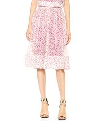 Elizabeth And James Avenue Skirt Cherry - Lyst