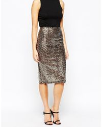 Oasis | Sequin Pencil Skirt | Lyst