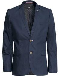 H&M Cotton Jacket Slim Fit - Lyst