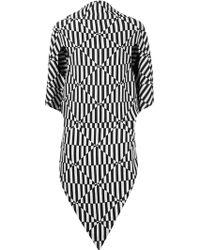 Gareth Pugh Geometric Silk-Blend Top - Lyst