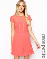 Asos Cap Sleeve Dress - Lyst