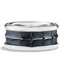 David Yurman Armory Wide Band Ring - Lyst