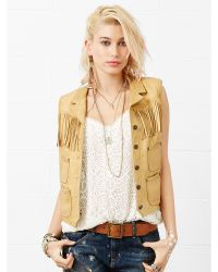 Denim & Supply Ralph Lauren Fringed Leather Vest - Lyst