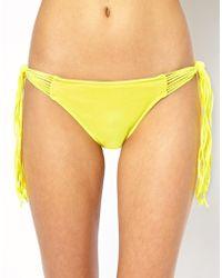 Seafolly Shimmer Spaghetti Tie Side Hipster Bikini Bottoms - Lyst