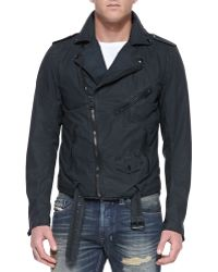 Diesel Jsed Asymmetric Front Zip Jacket Black - Lyst