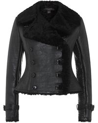 Ralph Lauren Black Label Luisana Shearling Jacket - Lyst