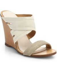 Rag & Bone Shaw Mule Wedge Sandals - Lyst