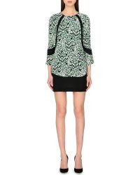 French Connection Leopard Moth Crepe Tunic Dress - Lyst