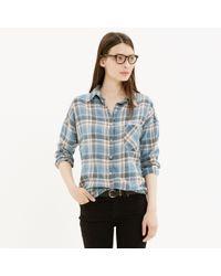 Madewell Nsfreg Rhodes Shirt in Blue Plaid - Lyst