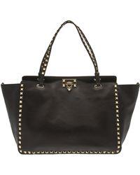 Valentino Rockstud Medium Leather Tote - Lyst