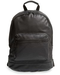 Nila Anthony - Perforated Faux Leather Backpack - Lyst