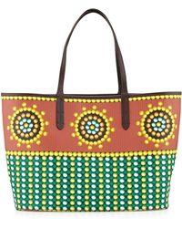 orYANY Ava Geometric-Print East-West Tote Bag green - Lyst