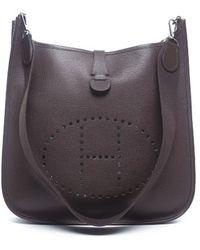 Hermes Pre-owned Chocolate Epsom Leather Evelyne Gm Bag - Lyst