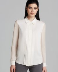 Armani Blouse Sheer Sleeve - Lyst