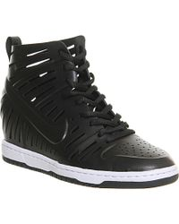 Nike Dunk Sky Hi High-Top Leather Trainers - For Women - Lyst