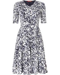 Max Mara Studio Rino 34 Sleeved Floral Printed Dress - Lyst