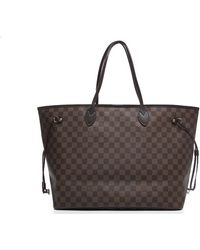 Louis Vuitton | Pre-owned Damier Ebene Neverfull Gm Bag | Lyst