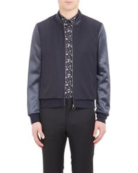 Paul Smith Sateen-Sleeve Blouson Jacket - Lyst