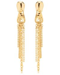 Marc By Marc Jacobs Zip Pull Draped Goldtoned Earrings - Lyst