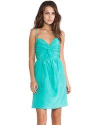 Shoshanna Blue Carine Dress - Lyst