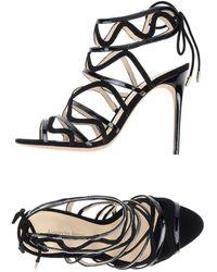 Alexandre Birman Black Sandals - Lyst