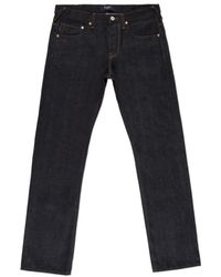 Paul Smith Standard-Fit Dry Indigo Selvedge Jeans - Lyst