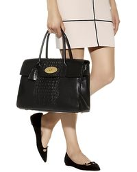 Mulberry Croc Print Stripe Bayswater Tote - Lyst