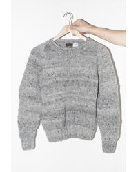 Chamula | Wool Crewneck Pullover - Pearl Heather | Lyst