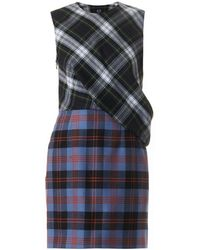 McQ by Alexander McQueen Multi-Plaid Tartan Dress - Lyst
