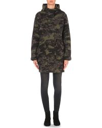DIESEL - M-ag Camouflage Wool And Cotton-blend Coat - Lyst