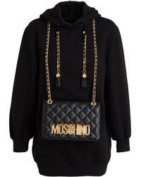 Moschino Hooded Sweatshirt With Detachable Handbag - Lyst