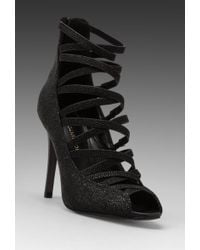 Rebecca Minkoff Mabel Stingray Print Heel in Black - Lyst