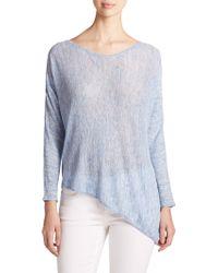 Eileen Fisher Linen Asymmetrical Top - Lyst