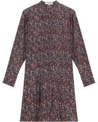 Paul & Joe Floral Print Silk Tunic Dress - Lyst