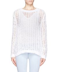 Sandro Sourire Distressed Knit Sweater - Lyst