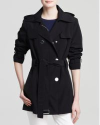 Calvin Klein Coat - Double-Breasted Trench - Lyst