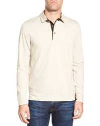 Singer + Sargent - Long Sleeve Pique Polo - Lyst